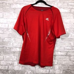 Men's Adidas Red Tee Size Large